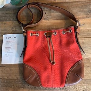 COACH crossbody bag red/brown good condition